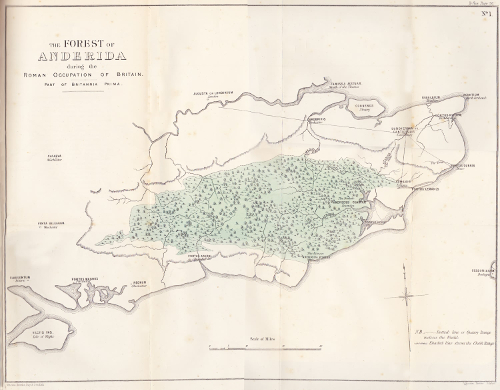 Forest of the Weald in Roman times as seen by 19th-century historians.